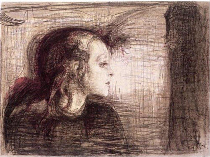 The Sick Child 1896' - Edvard Munch