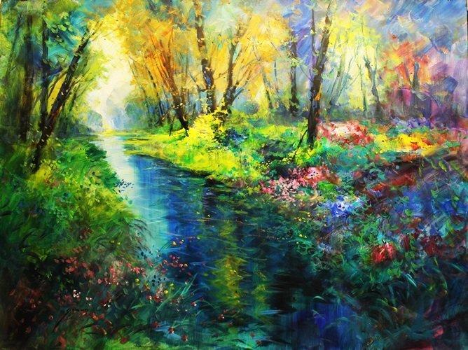 Monet's Flower Creek - Michael Schofield