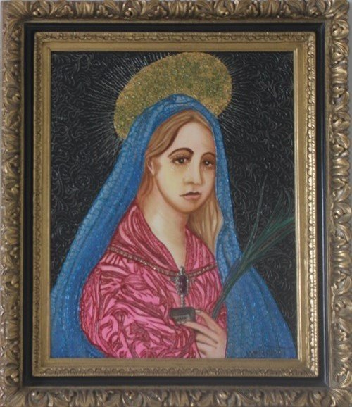 Weeping Mary of God by W. Verdult 40x36