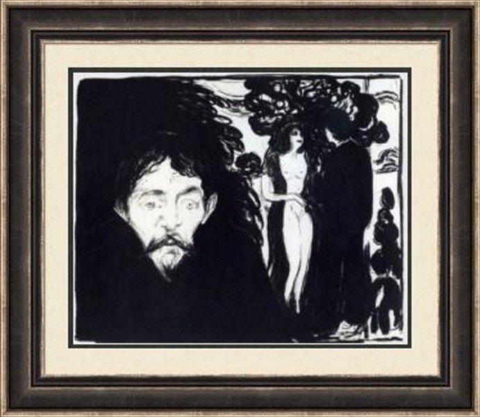 Jealousy 1896 - Edvard Munch