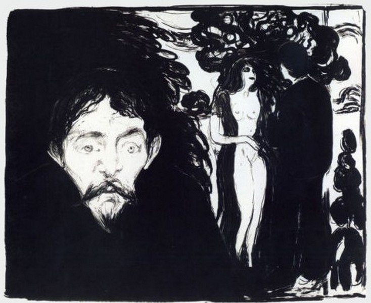Jealousy 1896 - Edvard Munch - 2