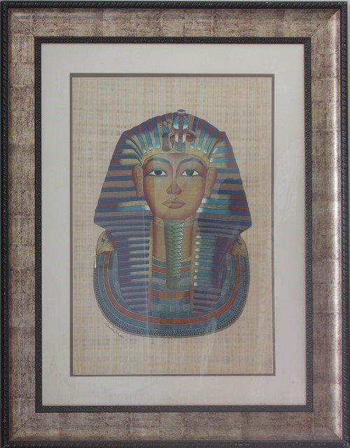 Papyrus - King tut - Framed Artx49x39