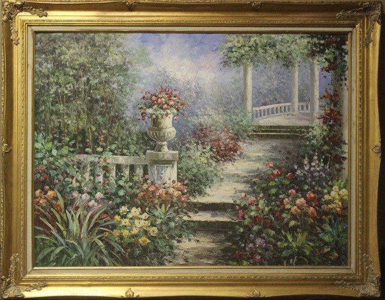 Garden in Greece - Original Painting