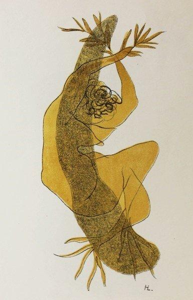 Nu a la Cithare by Henri Laurens - 2