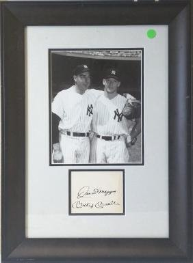 Joe Dimaggio& Micky Mantle - Signed Memorabilia