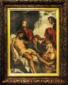 19th Century Religious Oil Paint - 40x32