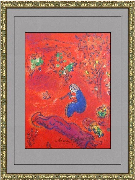 Signed Lithograph Marc Chagall - A Midi