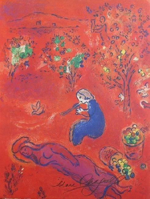 Signed Lithograph Marc Chagall - A Midi - 3