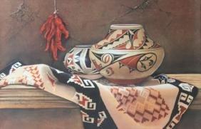Navajo Blanket by Manuel S Franco