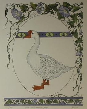Goose with Morning Glory - Gervaise '83