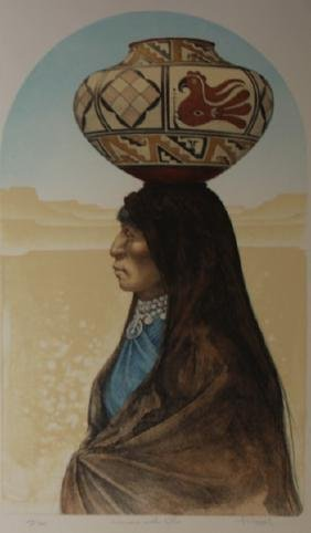 Woman with Olla by Frizzell