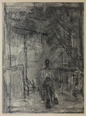 Seated Figure (after) Alberto Giacometti