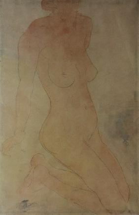 Nude Model (study) Lithograph