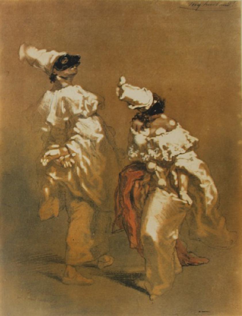 Masked Figures Dancing by Paul Gavarni
