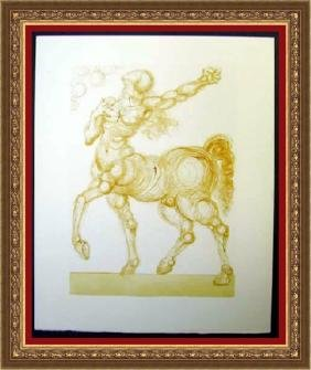 Hand Signed Salvador Dali Woodblock - The Centaur