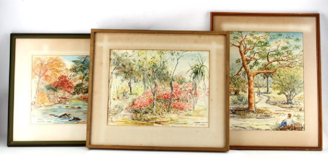 3 FRANCES CARLBERG KING LANDSCAPE WATERCOLORS