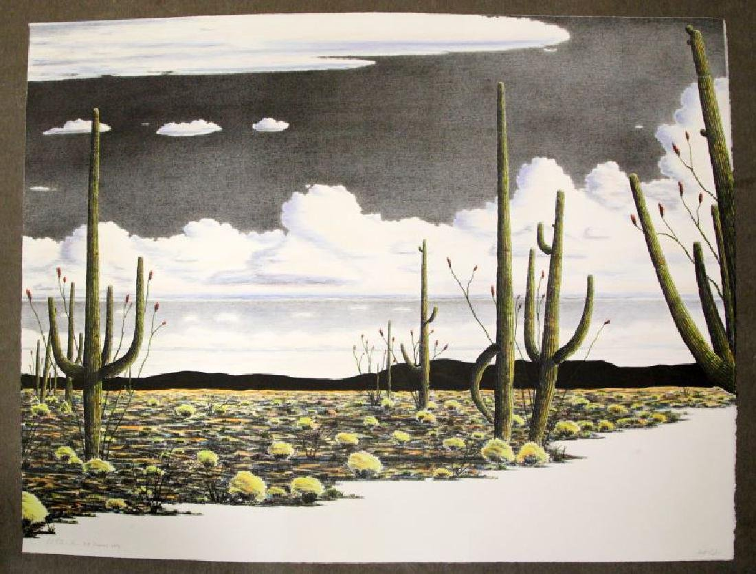 THOM PRIEMON ARTISTS PROOF C DESERT LANDSCAPE