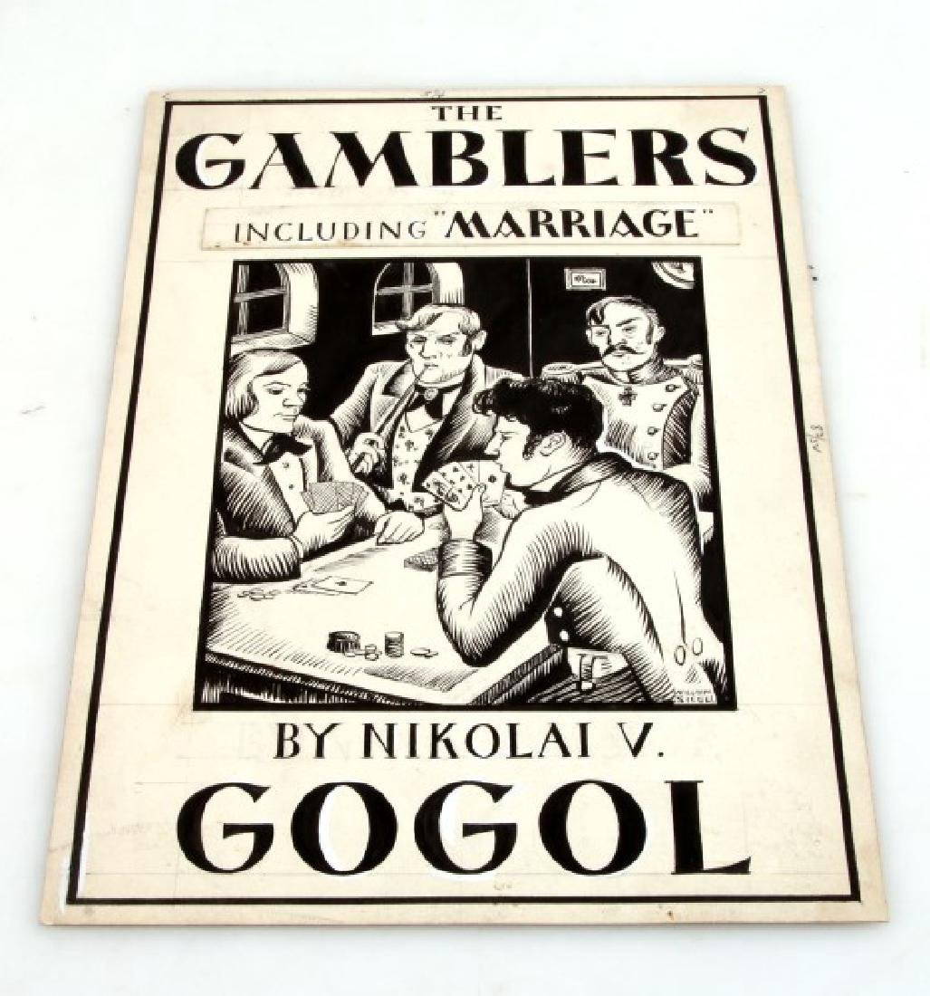 WILLIAM SIEGEL ORIGINAL ART FOR GOGOL BOOK COVER