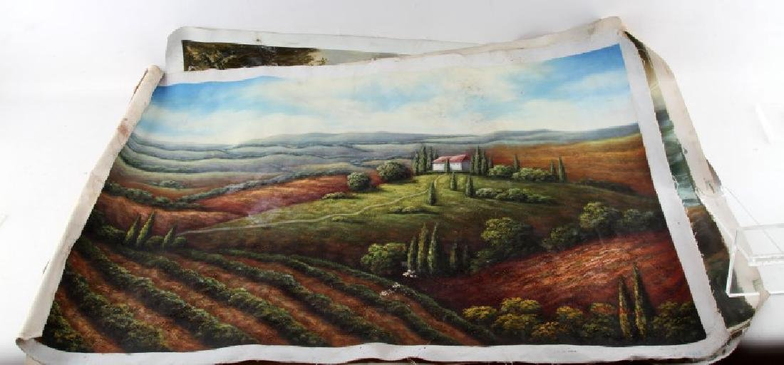 LOT OF 3 NATURE PASTORAL PAINTINGS OIL ON CANVAS