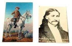 WILD BILL HICKOK PHOTO & BUFFALO BILL POST CARD