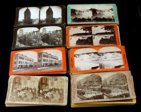 STEREOGRAPH CARDS W CITIES WASHINGTON DC NEW YORK