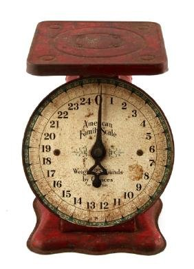 VINTAGE ANTIQUE RED AMERICAN FAMILY SCALE