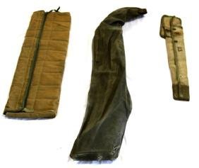 WWII ERA VINTAGE US WEAPONS AND GEAR CANVAS BAGS