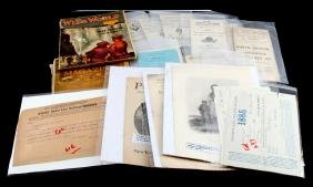 HISTORIC DOCUMENTS LATE 19TH & EARLY 20TH CENTURY