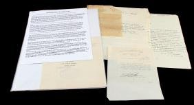 WWII ERA ISRAEL AND PALESTINE LETTERS & DOCUMENTS
