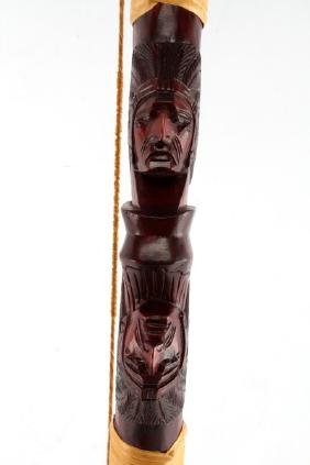 NATIVE AMERICAN THEMED DISPLAY RECURVE BOW