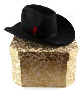 BEAVER BRAND SIZE 7 CUSTOM NAVY FELT COWBOY HAT