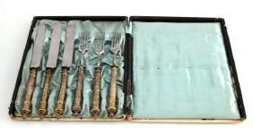 WWII-ERA SET OF 6 GERMAN DINNER KNIVES & FORKS BOX