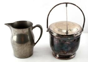 VINTAGE POOLE ICE BUCKET & PEWTER JUG