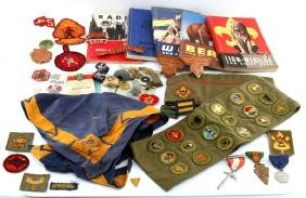 VINTAGE 50S 60S BOY SCOUTS PATCHES AWARDS BOOKS