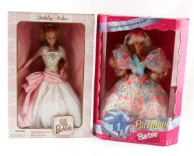 LOT OF 2 BIRTHDAY WISHES BARBIES 1994 1998 NRFB