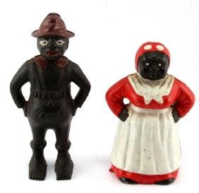 AUNT JEMIMA MAMMY & SHARECROPPER CAST IRON BANKS