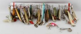 THIRTY VINTAGE FRESH & SALT WATER FISHING LURES