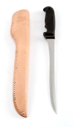CASE FIXED BLADE 9'' STAINLES FILET KNIFE + SHEATH