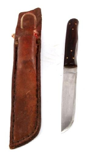 BUCK KNIFE WITH LEATHER SHEATH