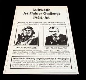 WWII AVIATION CHALLENGE YEAGER & GALLAND POSTER