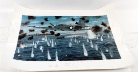 ENS GEO GAY BATTLE OF MIDWAY SIGNED PRINT