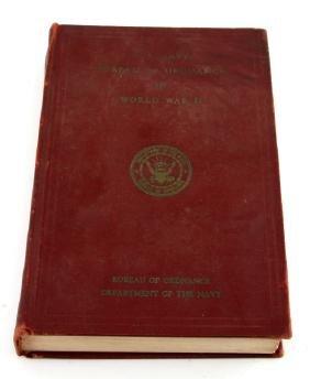 WWII US NAVY BUREAU OF ORDNANCE IN WWII 1953 BOOK