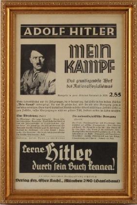 MEIN KAMPF ADVERTISING POSTER FRAMED ADOLF HITLER