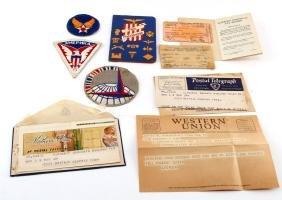 WWII WAC WOMAN PATCH & EPHEMERA MISSION TO MOSCOW