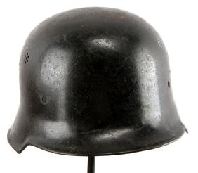 """WWII GERMAN THIRD REICH """"BLACKIE"""" POLIZEI HELMET"""