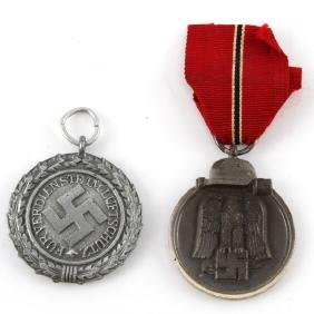 WWII GERMAN RUSSIAN FRONT & LUFTSCHUTZ MEDAL
