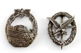 WWII GERMAN THIRD REICH E BOAT & LUFTWAFFE BADGE