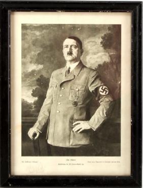 WWII PRINT DEPICTING ADOLF HITLER