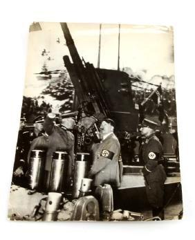 WWII GERMAN HITLER WITH VON BLOMBERG EUROPEAN NEWS