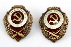 WWII USSR SOVIET 2 BADGES SNIPER & RECONNAISSANCE